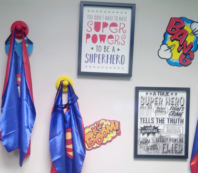 BB Encino Superhero Wall
