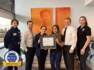 BB Visalia staff with BCCC certification