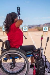 Arizona Disabled Sports woman archer