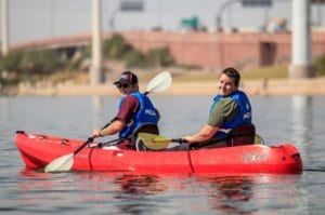 Arizona Disabled Sports Kayaking pair