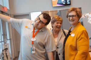 Staff together smiling