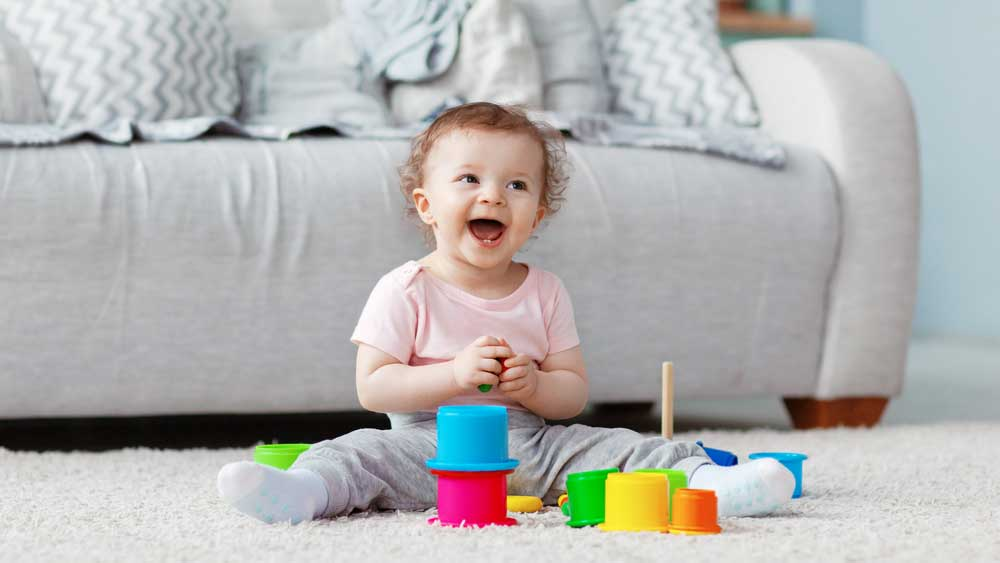 early childhood intervention smiling young child