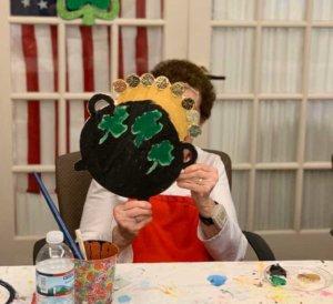 Faith Art Studio elderly woman painting