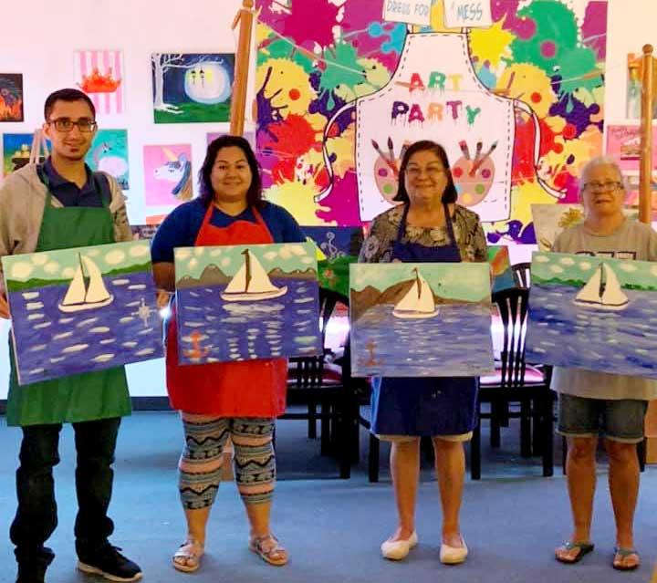 Faith Art Studio group painting