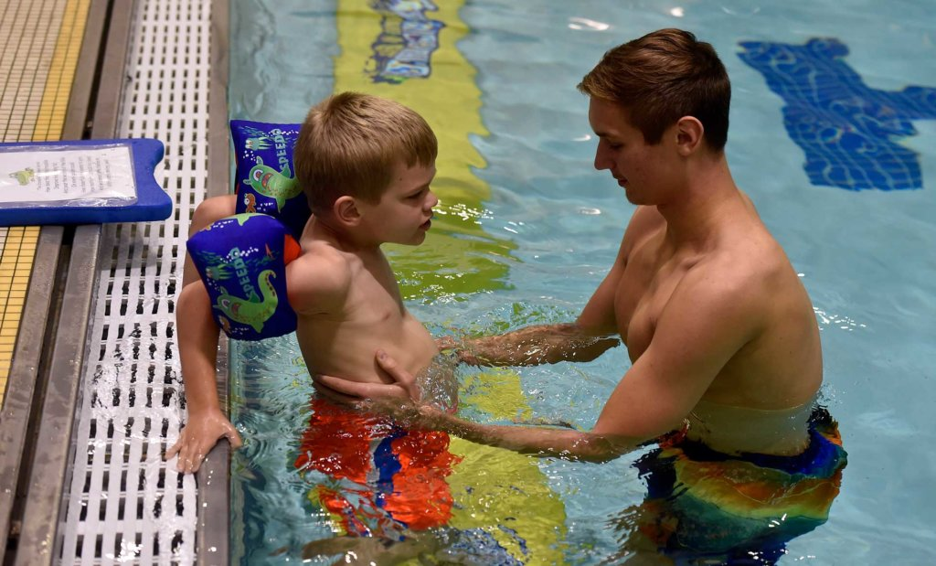 Autism Center at Misericordia - swim lesson