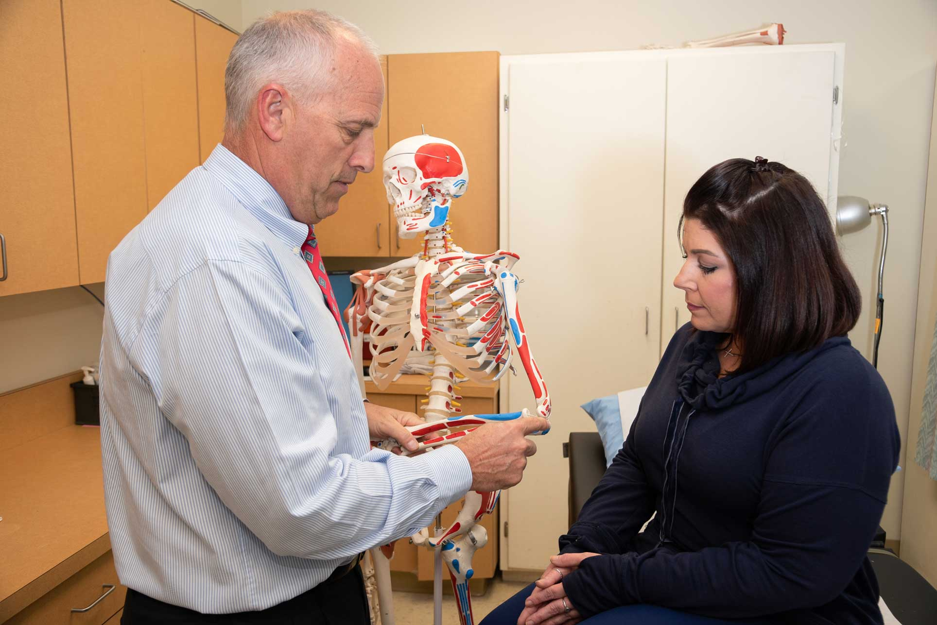 St. Tammany Health System Bone and Joint Clinic doctor working with female patient