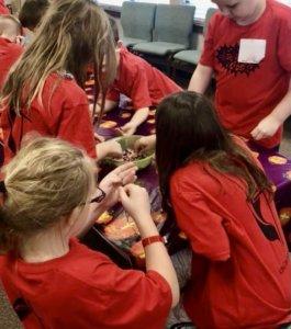 Kids working together on project at Strawbridge UMC