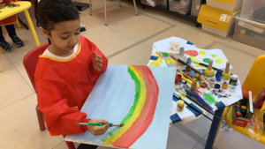 Athena Center student painting